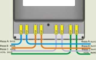Меркурий 230 ам 03 подключение. Схема подключения испытательной коробки с трансформаторами тока
