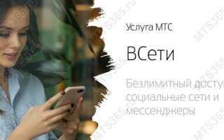 ВСети МТС – услуга для безлимитного использования социальных сетей