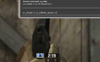 Бесконечные патроны и другие полезные команды в CS: GO