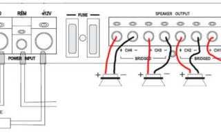 Схема автомобильного усилителя Fusion FP-804 (Blaupunkt GTA-480)