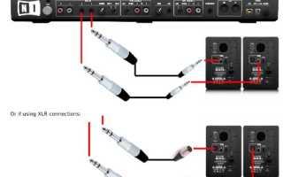 ПК + активные мониторы, характеристики и оптимальная схема соединения