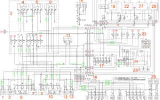 Схема наружного освещения, поворотов и аварийной сигнализации ГАЗель Next.