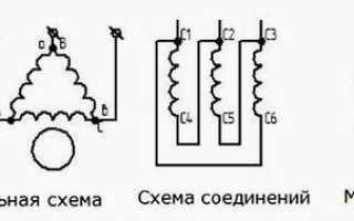 Схема подключения электродвигателя аве 071 4с
