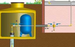 Подключение гидроаккумулятора и реле давления к глубинному, погружному насосу