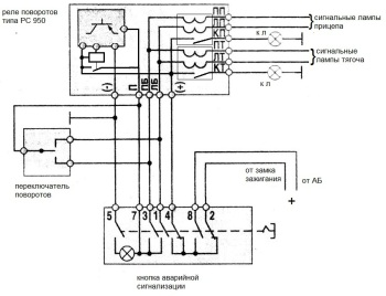 схема подключения рс 950