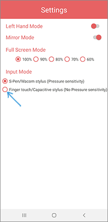 Включить ввод без пера в VirtualTablet