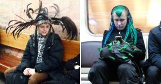 В метро опять не соскучишься: 20 фото модников, которых вы не забудете