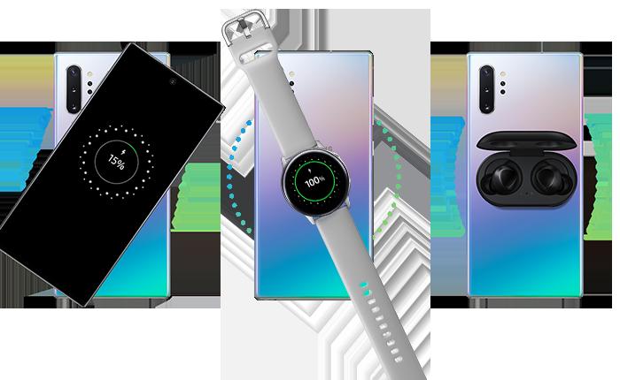 Заряжание часов Galaxy Watch от устройства Note10 при помощи функции PowerSharing