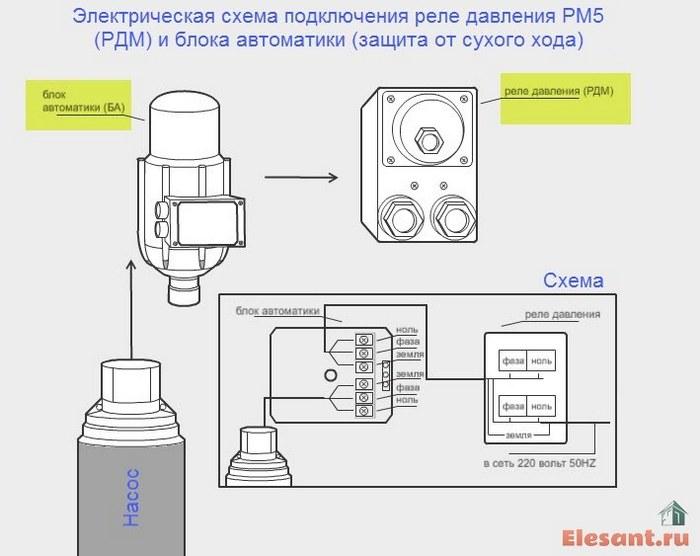 elektricheskaya-skhema-podklyucheniya-rele-davleniya-RM5-RDM-i-bloka-avtomatiki-zashchita-ot-sukhogo-khoda.jpg