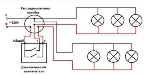shema-podklyucheniya-dvuh-grupp-svetilnikov-cherez-dvuhklavishnyy-vyklyuchatel-500x261.jpg